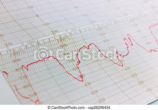기록, 온도계, 그래프 - csp26206434