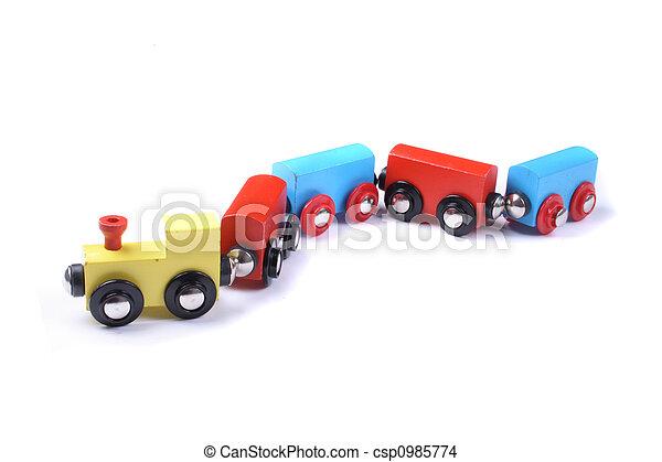 기차, 장난감 - csp0985774