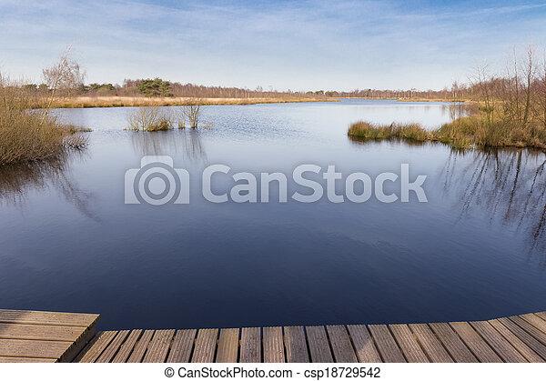 껍질, groote, 한 나라를 상징하는, de, 공원, 호수, meerbaansblaak - csp18729542