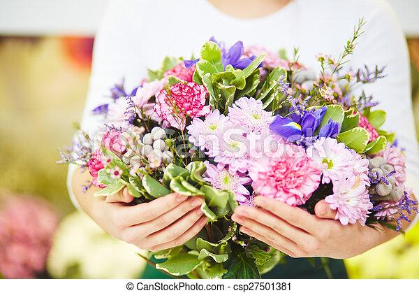 꽃다발, 크게 - csp27501381