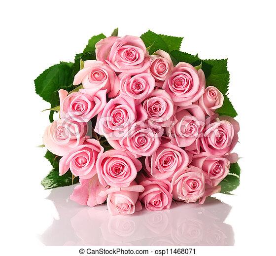 꽃다발, 크게, 장미 - csp11468071