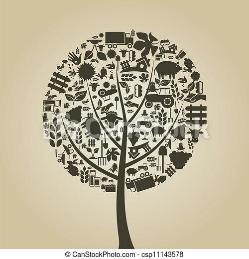 나무, 농업 - csp11143578