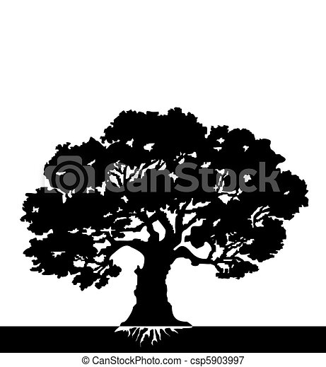 나무., 벡터 - csp5903997