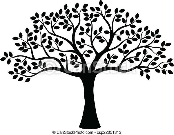 나무, 실루엣 - csp22051313