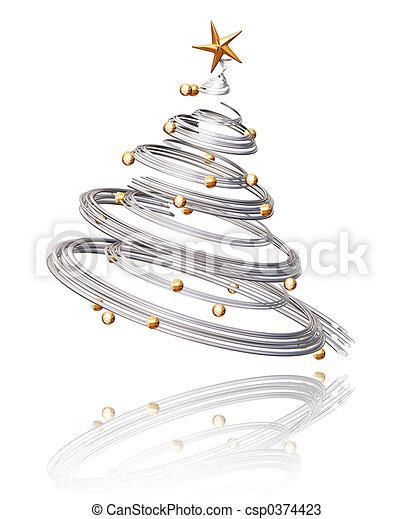 나무, 크리스마스 - csp0374423
