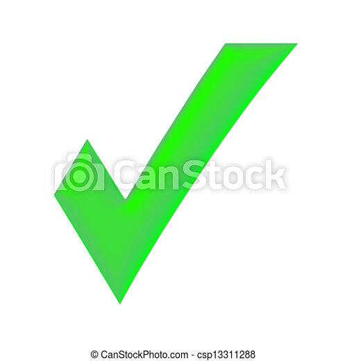 녹색, 대조 표시 - csp13311288