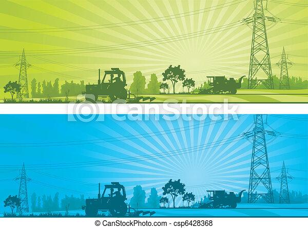농업, 조경술을 써서 녹화하다 - csp6428368