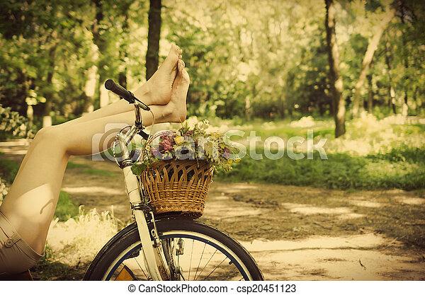 다리, 자전거 - csp20451123