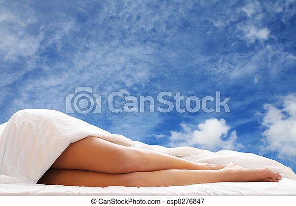 다리, 침대 - csp0276847