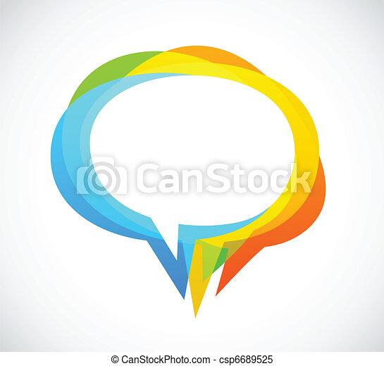 다채로운, 떼어내다, -, 연설, 배경, 거품 - csp6689525