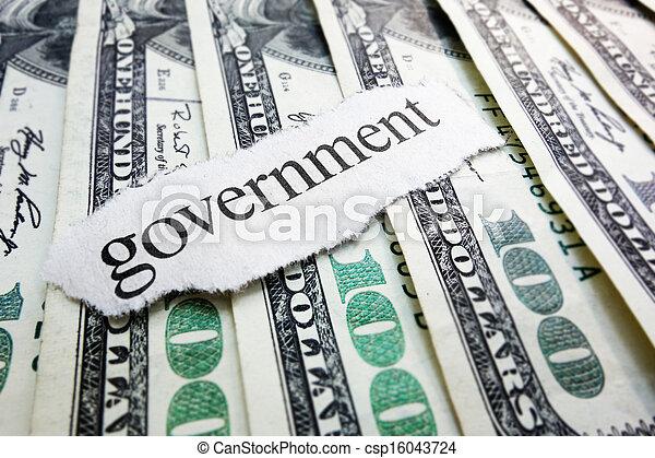돈, 정부 - csp16043724