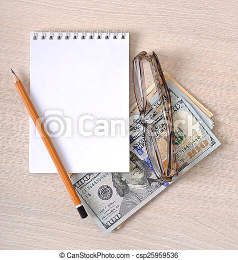 돈, 종이, 사업, 배경 - csp25959536