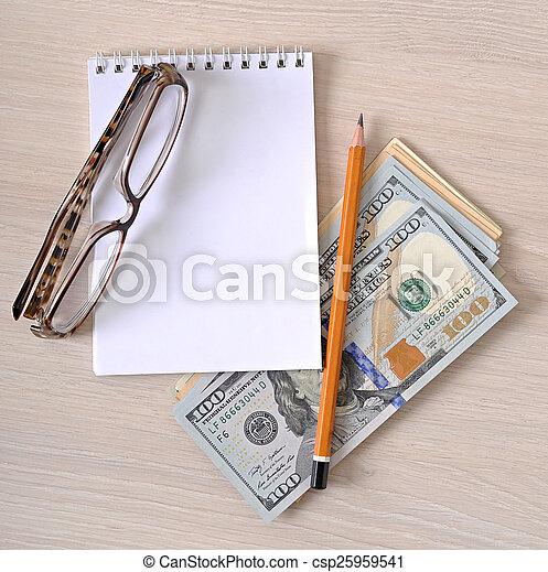 돈, 종이, 사업, 배경 - csp25959541