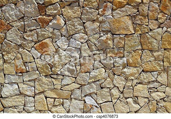 돌담, 패턴, 해석, 바위, 벽돌공 - csp4076873