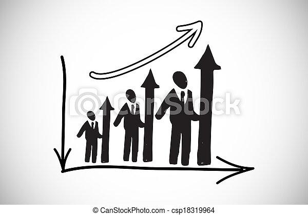 막대기, 합성물 심상, 도표, 인간, 자원 - csp18319964