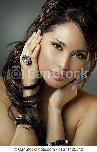 매력, 여자, 아시아 사람 - csp11425542