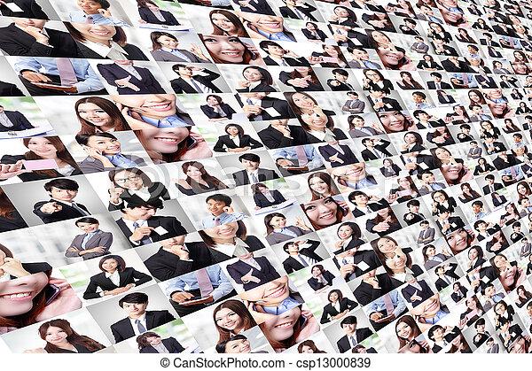 멋진, 만든, 그룹, 실업가, 콜라주 - csp13000839