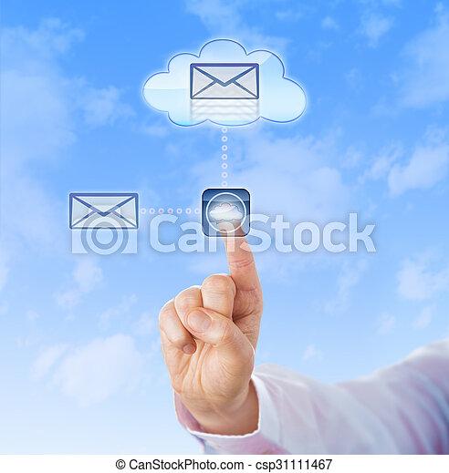 문서, 구름, 베낌, 손 - csp31111467
