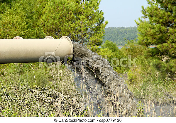 물, 산업 폐기물 - csp0779136
