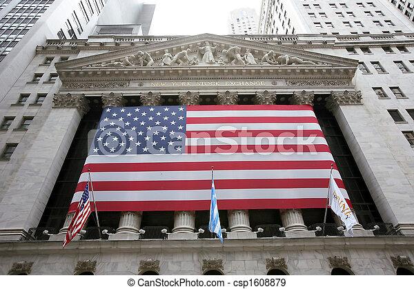 미국, 교환, wallstreet, 뉴욕, 주식 - csp1608879