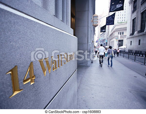 미국, 교환, wallstreet, 뉴욕, 주식 - csp1608883