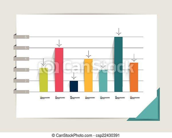 바람 빠진 타이어, 도표, graph. - csp22430391