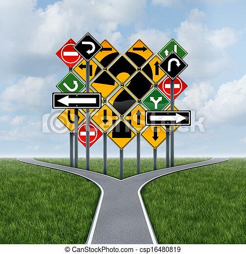 방향, 결정, 혼동하는 - csp16480819