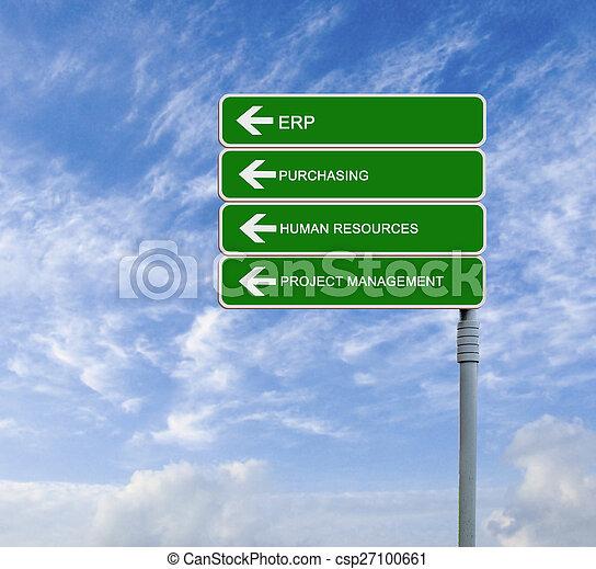방향, 자원, 인간, erp, 표시, 낱말, 길 - csp27100661