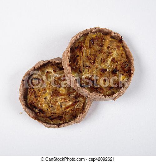 배경., 백색, 신선한, 빵 굽기, 가정 - csp42092621