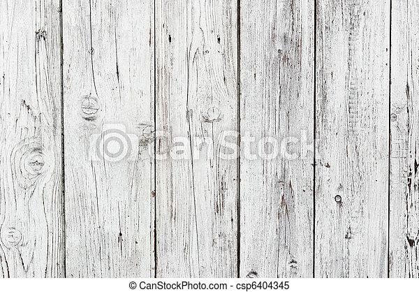 백색, 나무의 옷감, 배경 - csp6404345