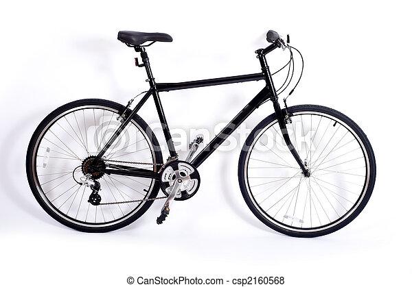 백색, 자전거 - csp2160568