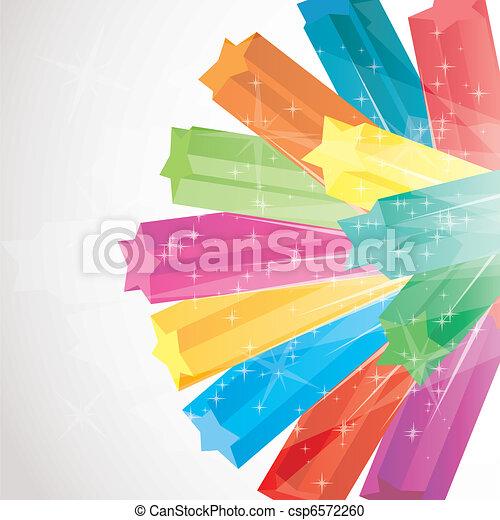 벡터, 다채로운, 삽화, 불꽃, 은 주연시킨다, 배경, 3차원 - csp6572260