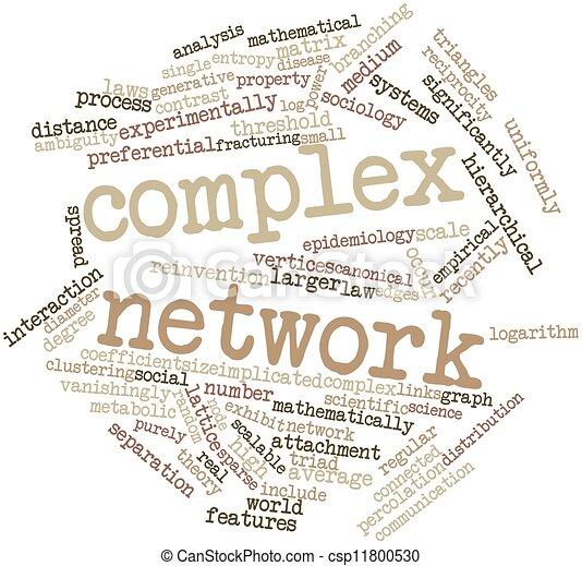 복잡한, 네트워크. 낱말, 네트워크, 은 표를 붙인다, 떼어내다, 관계가 ...