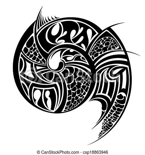 부족의 예술 - csp18863946