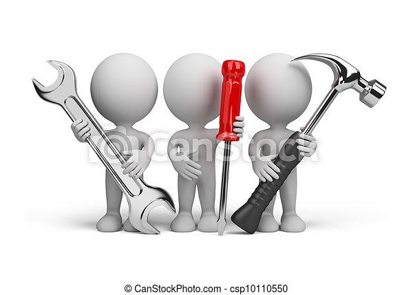 사람, –, repairers, 3차원 - csp10110550