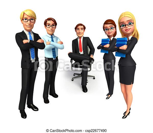 사무실., 그룹, 실업가 - csp22677490