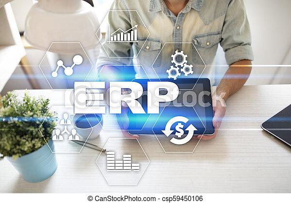 사업, concept., 계획, 기업, 기술, 자원 - csp59450106