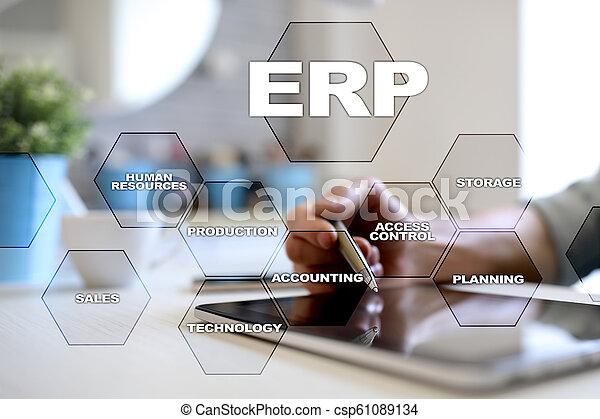사업, concept., 계획, 기업, 기술, 자원 - csp61089134
