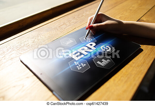 사업, concept., 계획, 기업, 기술, 자원 - csp61427439