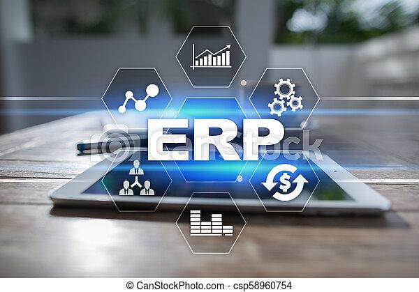 사업, concept., 계획, 기업, 기술, 자원 - csp58960754