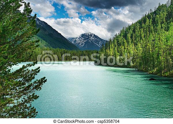 산 호수 - csp5358704