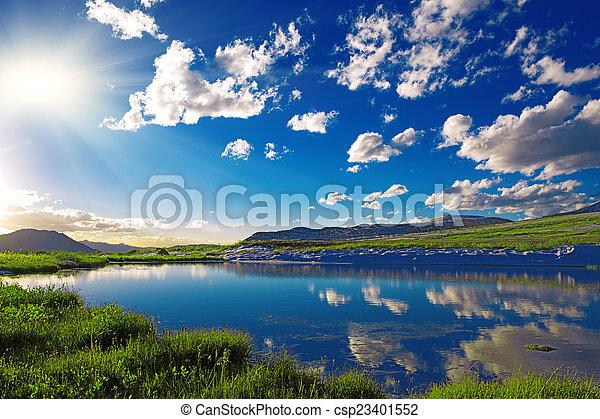 산 호수 - csp23401552