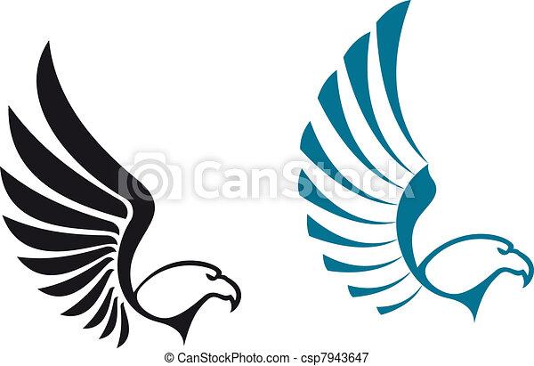 상징, 독수리 - csp7943647