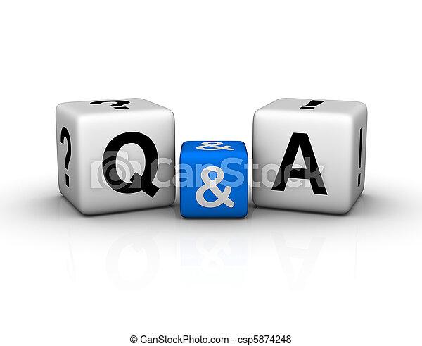 상징, 입방체, 질문, 응답 - csp5874248