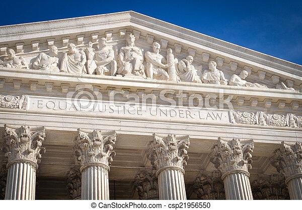 상태, 최고도, 결합되는, 법정, 미국 - csp21956550