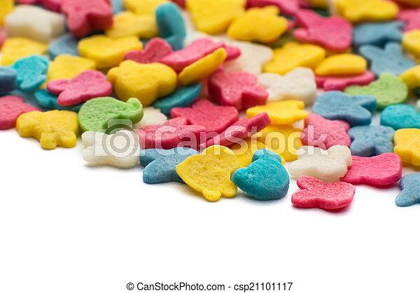 색종이 조각, 조금, 사탕, 다채로운 - csp21101117