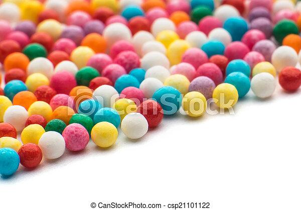색종이 조각, 조금, 사탕, 다채로운 - csp21101122