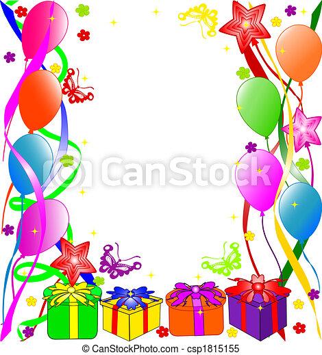 생일, 배경, 행복하다 - csp1815155