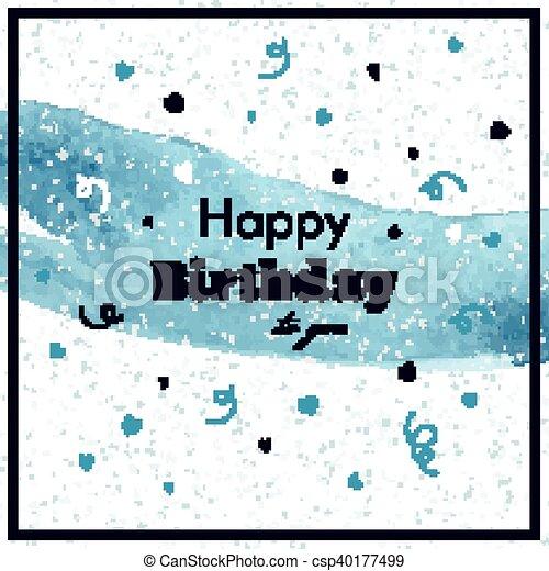 생일, 벡터, 인사장, 행복하다 - csp40177499