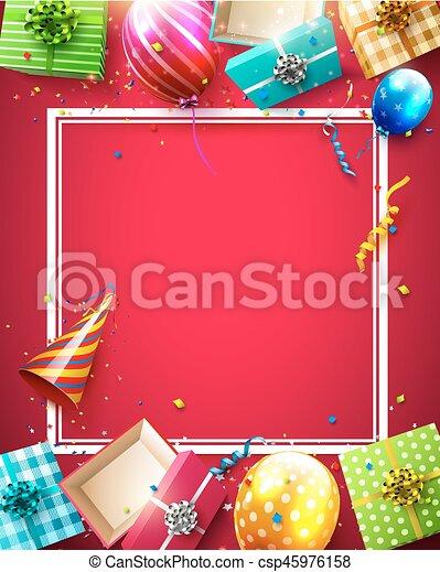 생일, 사치, 본뜨는 공구 - csp45976158